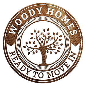 woody homes logo